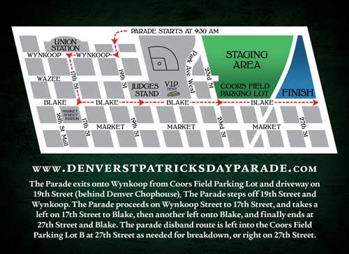 Denver St. Patrick's Day Paraderoute
