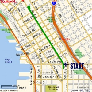 Seattle St. Patrick's Day parade-route